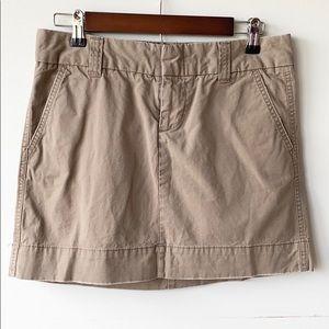 Gap Favorite Chino Tan Khaki A-Line Mini Skirt 4